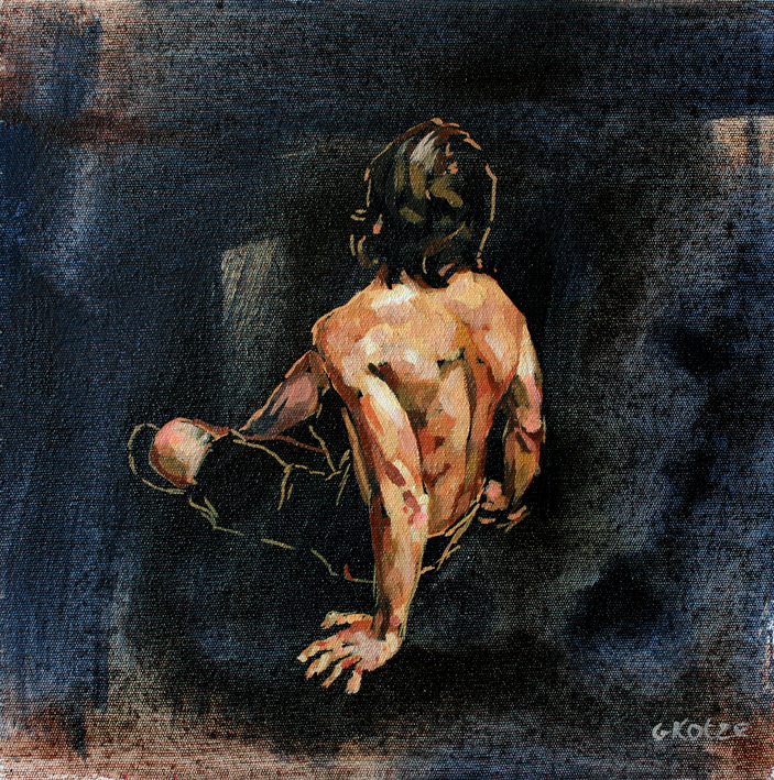 D12_Male_figure_Seated_oil_on_canvas_30_x_30cm