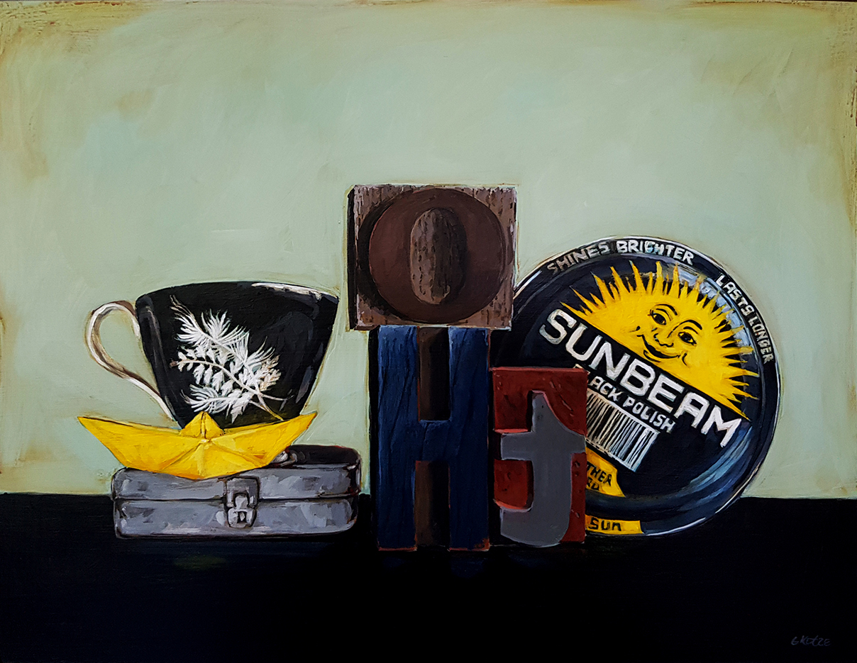 Grace_Kotze_Sunbeam_and_the_yellow_boat_35_x_45_x_4cm_Acrylic_on_Board_net