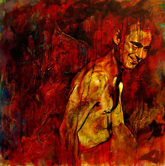 Donovan, 1m X 1m, Oil on Canvas, 2007