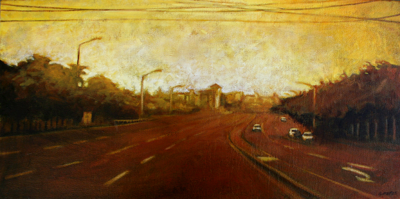 Yellow Sky, 30cm X 60cm, Oil on Canvas, 2008