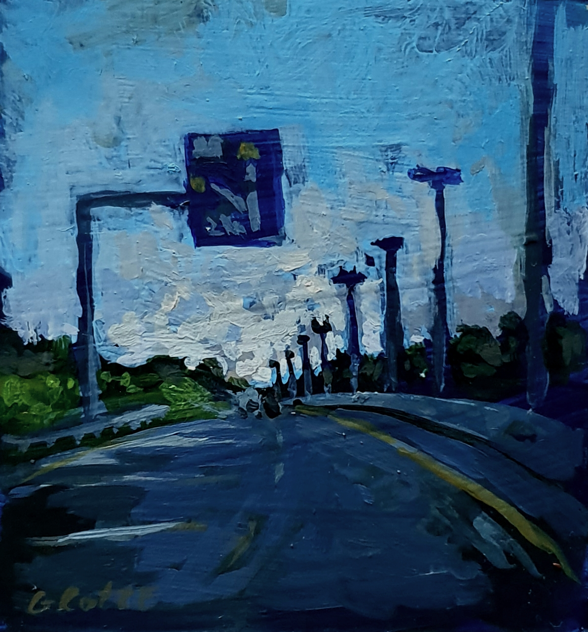 Nearing_home_8.5cm_x_9cm_Acrylic_on_board