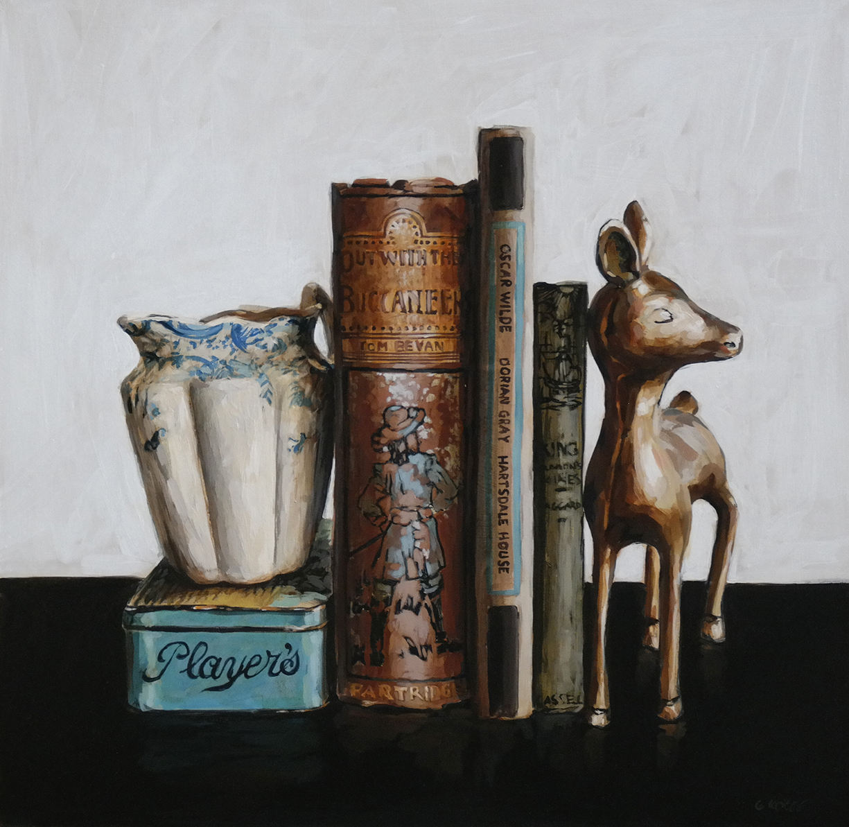 The_deer_and_Dorian_Grey_40_x_40_x_4cm_Acrylic_on_board_copy